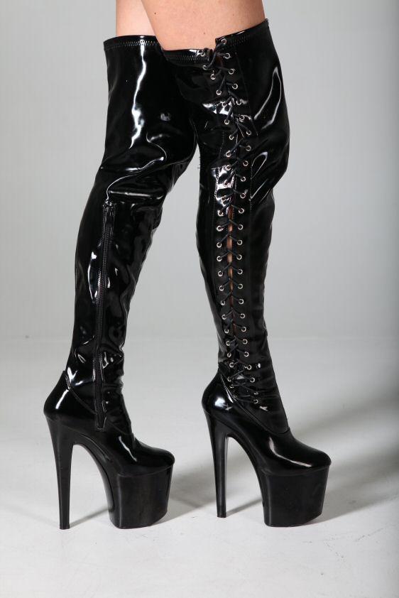 mega extrem plateau high heels overknee stiefel 41 ebay. Black Bedroom Furniture Sets. Home Design Ideas