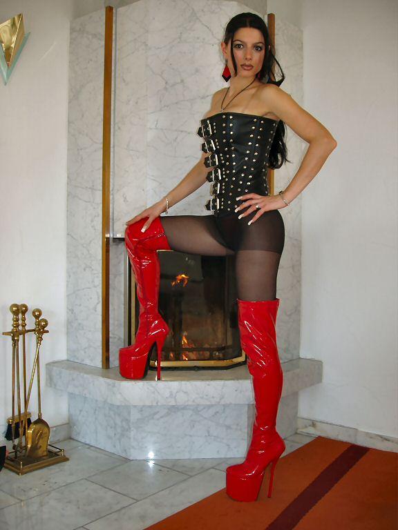 Detalles de Mega extremadamente plataforma charol tacón alto botas altas rojo 37 párrafo Stiletto 20cm ver título original