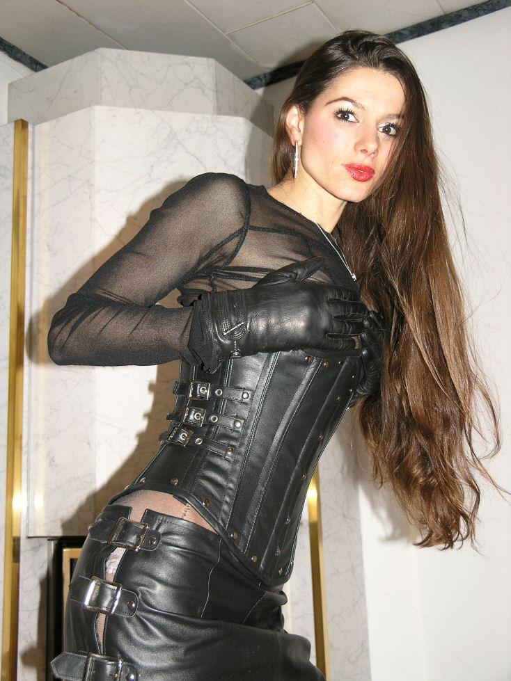 ECHTES LEDER Gothic Corsage Korsett schwarz M Real Leather Ledercorsage